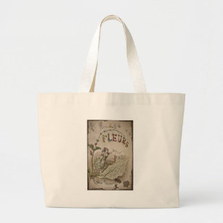French Flower Fairy Large Tote Bag
