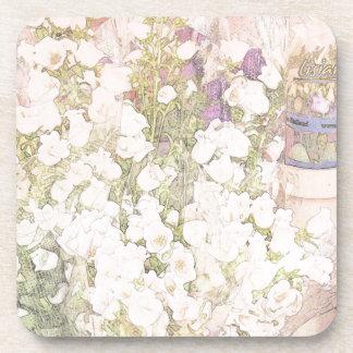 French Flower Market Drink Coaster