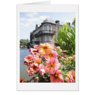 French Flowers Picture Notecard