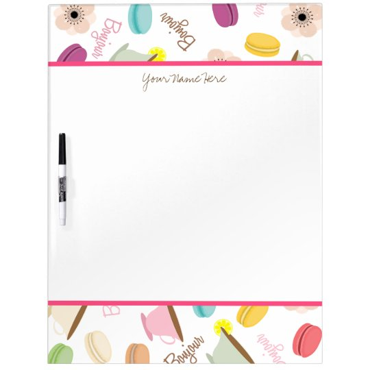 French Food Personalized Dry Erase Board