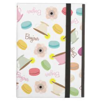 French Food Theme iPad Case With Kickstand