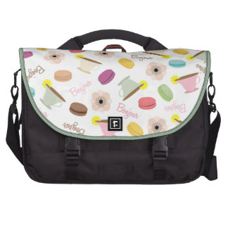 French Food Theme Laptop Bag