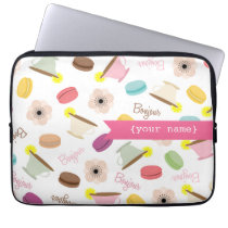 French Food Themed Personalized Electronics Bag