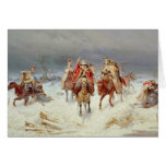 French Forces Crossing the River Berezina Greeting Card