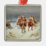 French Forces Crossing the River Berezina Christmas Tree Ornament