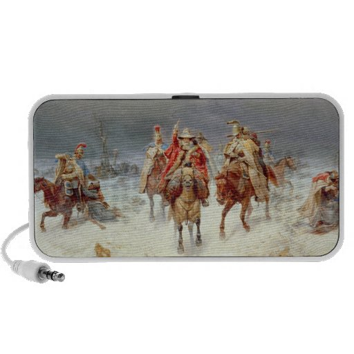 French Forces Crossing the River Berezina Laptop Speaker