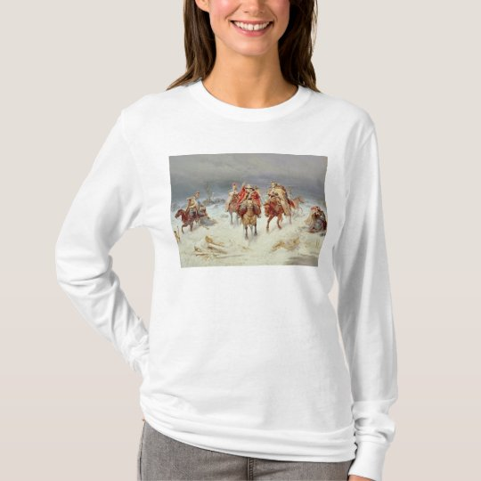 French Forces Crossing the River Berezina T-Shirt