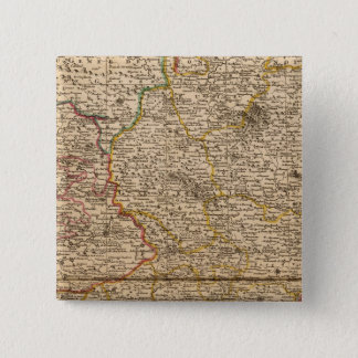 French forests and settlements pinback button