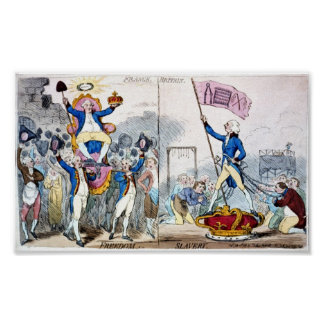 French Freedom vs. British Slavery Poster