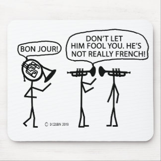 French French Horn Mouse Pad