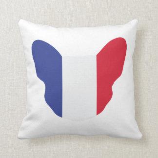French Frenchie Throw Pillow