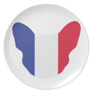 French Frenchie Dinner Plate