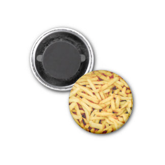 French Fries 1 Inch Round Magnet