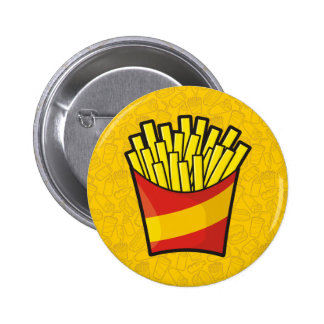 French Fries 2 Inch Round Button
