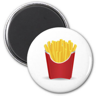 French Fries 2 Inch Round Magnet
