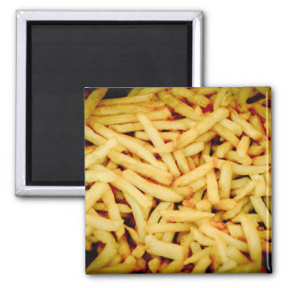 French Fries 2 Inch Square Magnet
