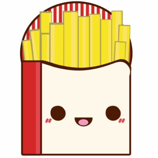 French Fries Acrylic Cut Out Zazzle
