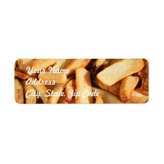 French Fries Address Labels