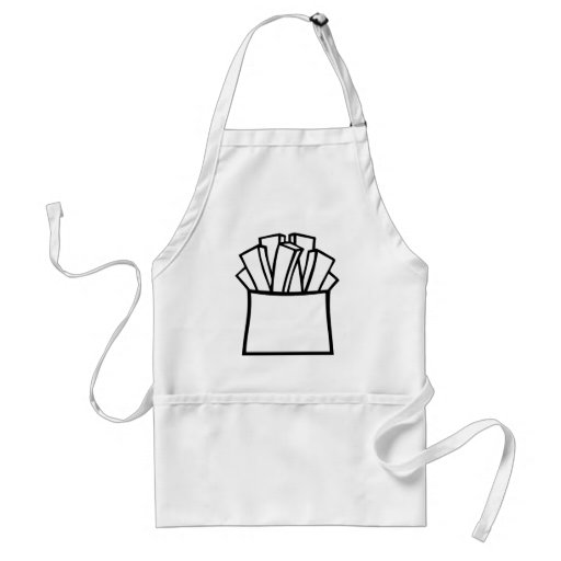 French fries adult apron