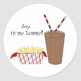 French Fries and a Milkshake Classic Round Sticker