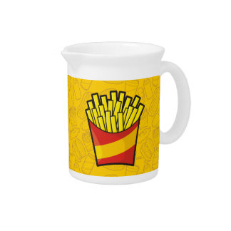 French Fries Beverage Pitchers