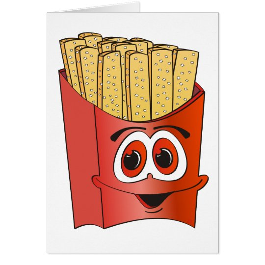 French Fries Cartoon Card