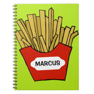 French fries custom notebook