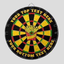French Fries Dartboard with Custom Text