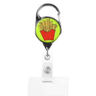 French fries design badge holder