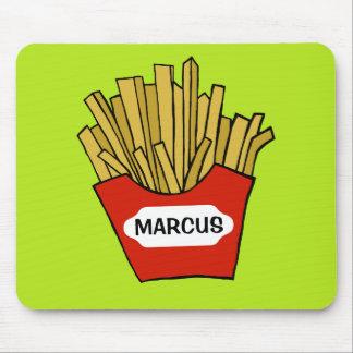 French fries design custom mousepad