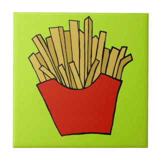 French fries design tile