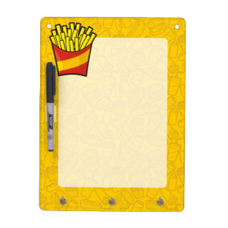 French Fries Dry Erase Board