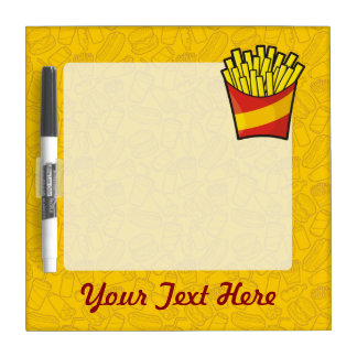 French Fries Dry-Erase Boards