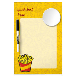 French Fries Dry-Erase Whiteboards