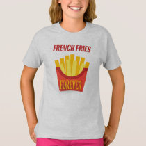 French Fries Girls' Hanes TAGLESS® T-Shirt
