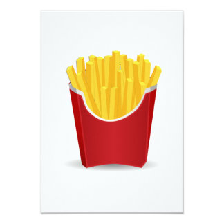 "French Fries 3.5"" X 5"" Invitation Card"