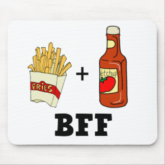 French fries Ketchup BFF Mouse Mat