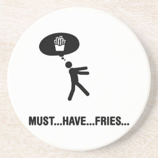 French fries lover drink coaster