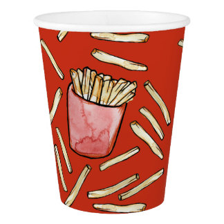 French Fries Paper Cup