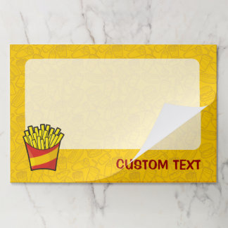 French Fries Paper Pad