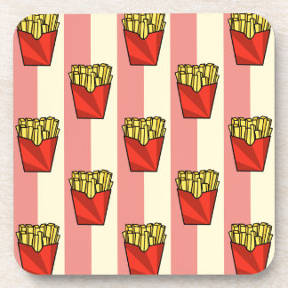 French Fries Pattern Coasters