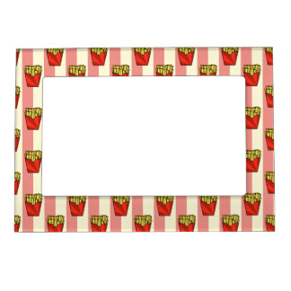 French Fries Pattern Magnetic Frame