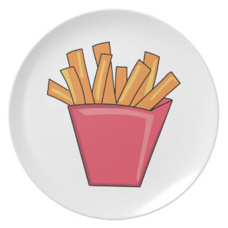 French Fries Dinner Plates