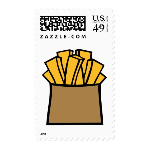 French fries postage stamp