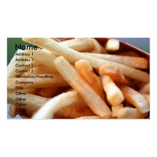 French Fries Profile Card