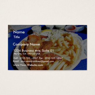 French Fries Shrimp Crab Cakes Fish Tartar Business Card
