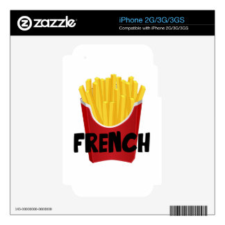 French Fries Decals For The iPhone 3GS