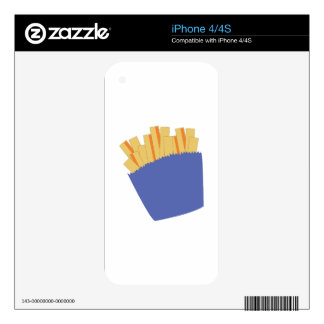 French Fries Decal For iPhone 4