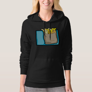 French Fries Womens Hoodie