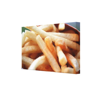 French Fries Wrapped Canvas